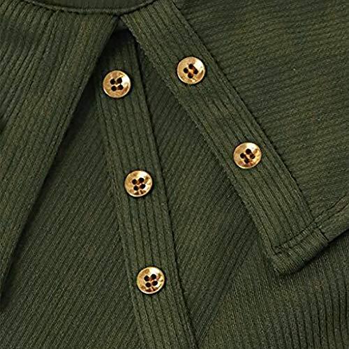 Mujer Para Tops women Verde Giulogre Camisas HqfIxt