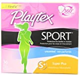 Sports Technology Best Deals - Playtex Sport Tampons with Flex-Fit Technology, Super Plus, Unscented - 36 Count by Playtex