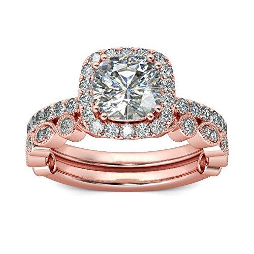 Fashion Rings Ladies Jewelry Gifts Luxurious Bridal Zircon Diamond Elegant Engagement Wedding Anniversary Ring for Women (8, A)