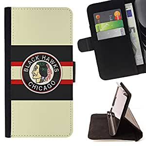 For Samsung Galaxy S3 III I9300 Chicago Blackhawk Ice Hockey Leather Foilo Wallet Cover Case with Magnetic Closure