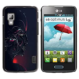 Be Good Phone Accessory // Dura Cáscara cubierta Protectora Caso Carcasa Funda de Protección para LG Optimus L5 II Dual E455 E460 // Abstract Robot Face
