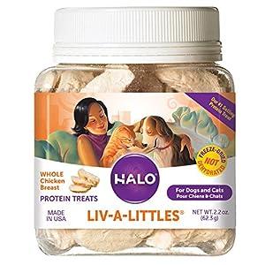 Halo Liv-A-Littles Grain Free Natural Dog Treats & Cat Treats, Freeze Dried Chicken Breast, 2.2-Ounce 81