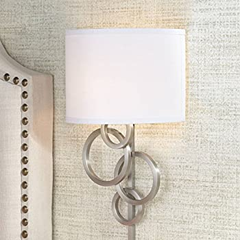 Trixie Brushed Nickel Rectangle Plug In Wall Lamp