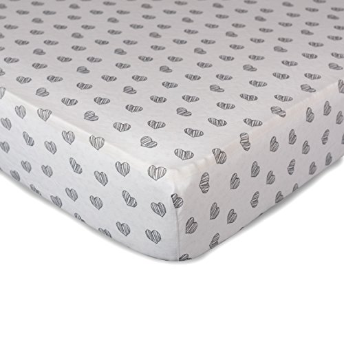 Regal Small Rug - Living Textiles Crib Fitted Sheet - Sketched Hearts