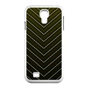 Cathyathome Stripe Samsung Galaxy S4 Case Yellow V Stripes for Men, Samsung Galaxy S4 Cases for Teen Girls for Men [White]