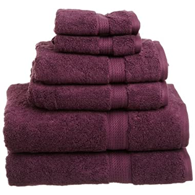 Superior 900 Gram Egyptian Cotton 6-Piece Towel Set, Plum