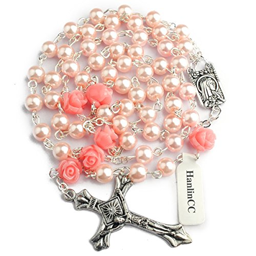 Hedi Pink Color Holy Rosary with Lourdes -