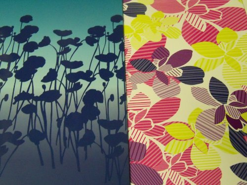staples-two-pocket-poly-folder-set-of-2-flower-power-flower-shadows-multicolored-decorative-flowers-