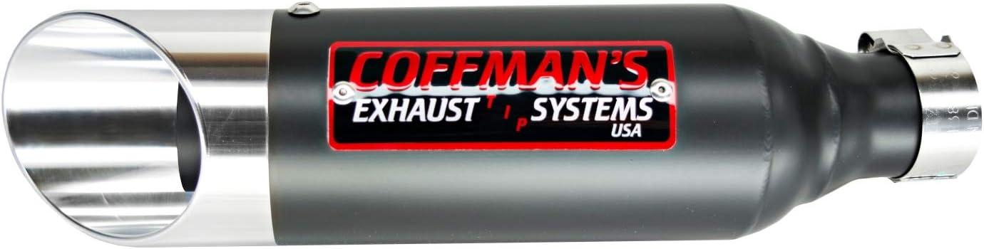 Coffmans Shorty Slip On Exhaust Muffler for Kawasaki Ninja 250 2008-2012 Sportbike with Black Tip