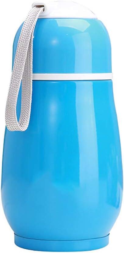 JujubeZAO - Botella de agua con vacío, 300 ml, botella de café portátil, termo para té, taza de agua, taza térmica, regalo azul