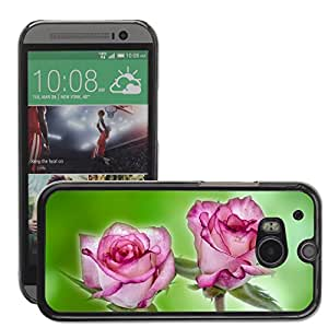 Hot Style Cell Phone PC Hard Case Cover // M00151878 Flower Flowers Rose Love Decoration // HTC One M8