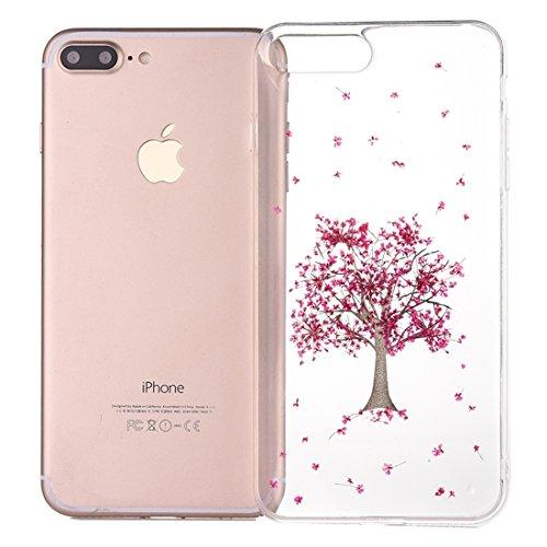 MXNET Iphone 7 Plus Fall, Epoxy Dripping gepresst echte getrocknete Blume weichen transparenten TPU Schutzhülle CASE FÜR IPHONE 7 PLUS ( SKU : Ip7p0996l )