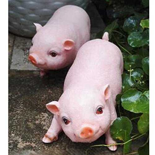 PIG Home Decor Patio, Lawn & Garden Outdoor Décor Garden Sculptures & Statues Decorative Stones Decor (Pink and Black) (Pink and Black 1) by PIG (Image #3)