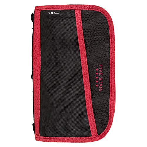 Five Star 3 Ring Binder Multi-Pocket Pencil Pouch - Red (50162)]()