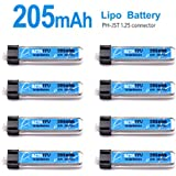 BETAFPV 8pcs 205mAh Tiny Whoop Lipo Battery 30C with JST 1.25 Connector