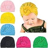 Xinshi Girls Baby Cotton Cloth Turban Kont Toddler Tabbit Ear Hat Kids Set Head Cap (MC3 (6PCS))