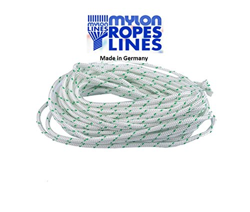 ITACO Made in Germany Mylon 3.5mm Diameter 5meters Starter Rope for 2 Cycle / 4 Cycle Chainsaw String Trimmer Lawnmower