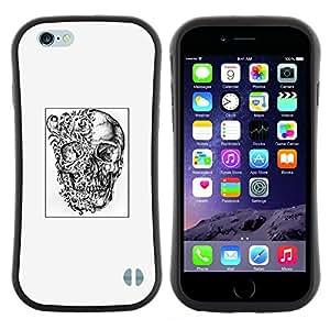 "Hypernova Slim Fit Dual Barniz Protector Caso Case Funda Para Apple (5.5 inches!!!) iPhone 6 Plus / 6S Plus ( 5.5 ) [Arte Dibujo tatuaje Negro Blanco""]"