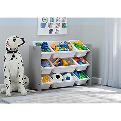 Delta Children MySize 9 Bin Plastic Toy Organizer, Grey : Baby