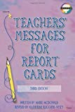 img - for Teachers' Messages for Report Cards, Grades K - 8 by Mcdonald, Marie, Ruggieri, Katherine (2002) Paperback book / textbook / text book