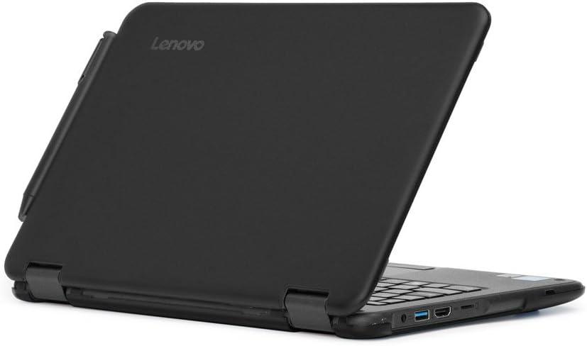 """mCover Hard Shell Case for 2017 11.6"""" Lenovo N24/300E Series Windows Laptop (NOT Fitting Lenovo N21/N22/N23 Series Chromebook Laptop) (Black)"""
