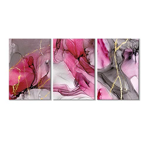 Wall26-3 Piece Canvas Wall Art-Abstract Artwork Rose Ink Painting-Giclee Painting Wall Bedroom Living House Decoration Home Decor - 16