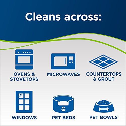 Bissell PowerFresh Lift-Off Pet Steam Mop, Steamer, Tile, Bathroom, Hard Wood Floor Cleaner, 1544A, Orange