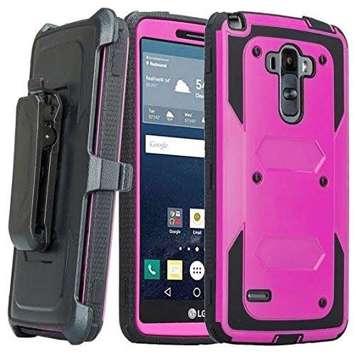 LG G Stylo Case, LG G Vista 2 Case, [Pro Guard Series] with Built-in [Screen Protector] Heavy Duty Full-Body Rugged Holster Case [Belt Swivel Clip][Kickstand] For LG G Stylo LS770/G Vista 2 (Purple)