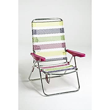 alco silla para playa aluminio respaldo bajo