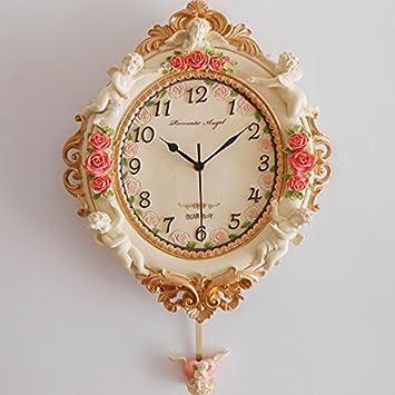 WXIN Relojes Reloj De Pared Reloj Artesanal Relojes Regalo Salón Silencioso Como Se Muestra En La Figura: Amazon.es: Hogar