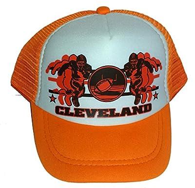 Toddler Kid's Cleveland Football Snapback Mesh Trucker Hat Cap
