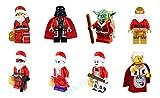 Shalleen 8 Sets Xmas Master Yoda Darth Vader Figures Star Lot Kids Gift Bricks Toys