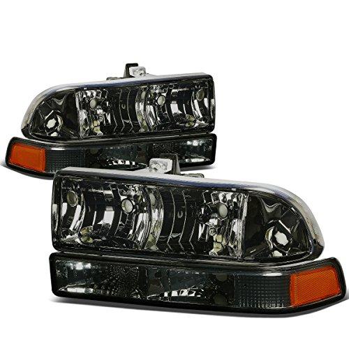 For Chevy S10/Blazer GMT 325/330 4Pcs Smoked Lens Amber Corner Headlight
