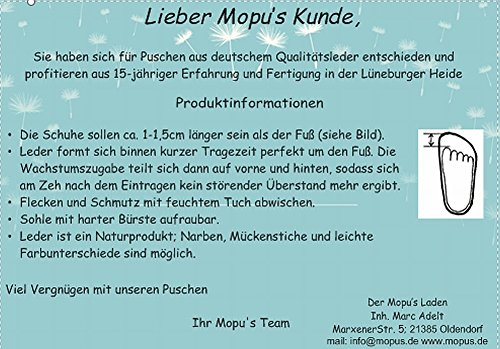 Mopu's® Com Eco De Marca Puschen Vermelho Couro Coração Qualidade Artesanal Alemanha couro Rastejando Sapatos rF0nfr
