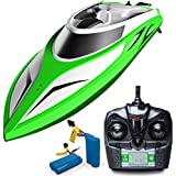 """Force1 RC Boat Pool Toys - """"Velocity Wave"""" High Speed Remote Control Boat with Extra Battery + Toy Boat Capsize Recovery for Fast RC Boat Stability"""