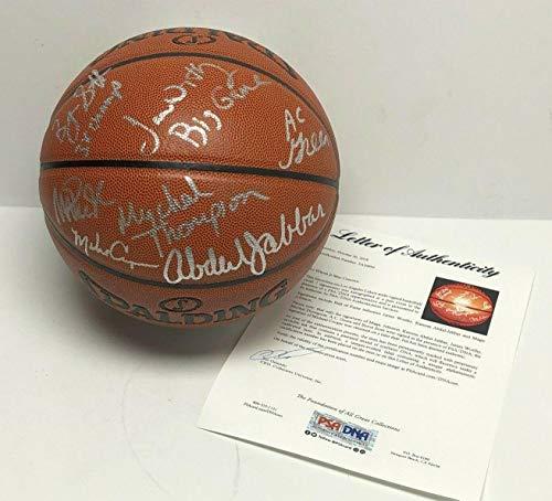 7512c53f2 Magic Johnson Kareem Abdul-Jabbar Cooper Signed Basketball  Lakers Showtime  - PSA DNA Certified - Autographed Basketballs