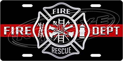 Front License Plate Vanity Tag CafePress Aluminum License Plate Fire Dept Aluminum License Plate