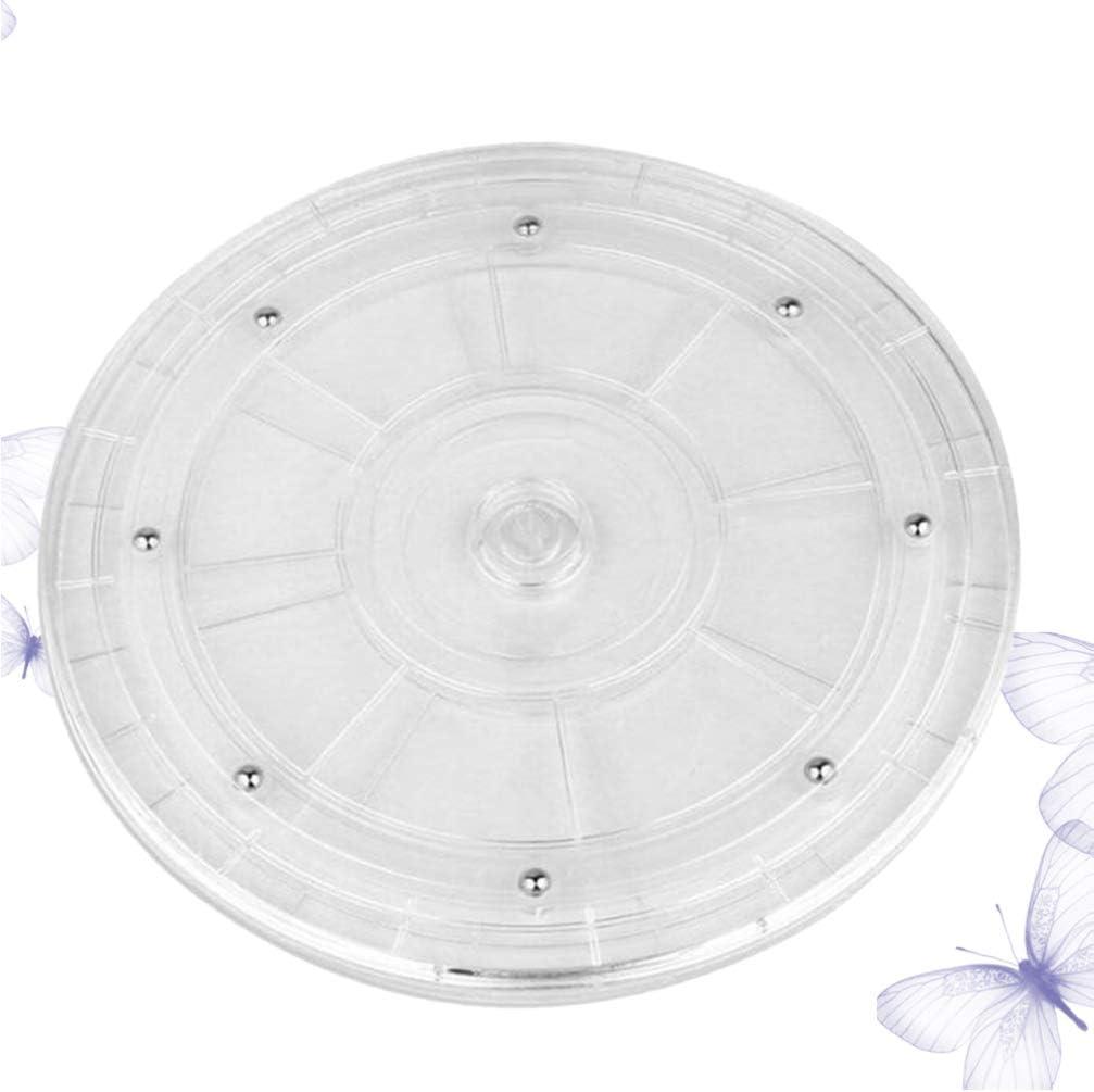 UPKOCH Piatto Giradischi in Plastica Espositore Trasparente Vassoio Girevole con Rotazione a 360 Gradi per Dessert da Festa