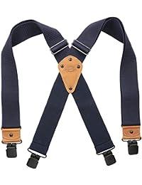 Men's Industrial Strength Suspenders, neon orange, One Size