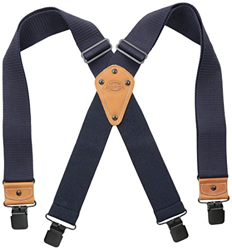 Dickies Men's Industrial Strength Suspenders,Navy,One Size
