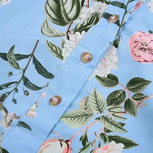 et Vetements Les Fille Mode Automne Vrac Haut Chemise Jours 1 Longue Dcontracte Sexy Clair t Shirt Tous Tops Bureau en OVERMAL Manches Femmes Chic T Bleu Blouse xqSwAYpx