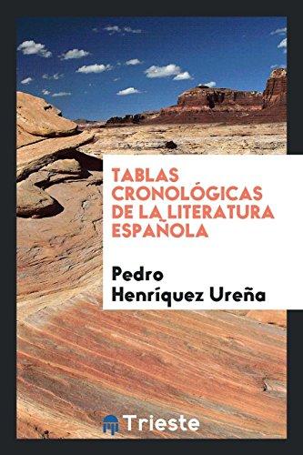 Tablas cronológicas de la literatura española