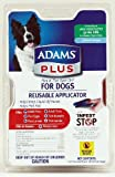 Adams Plus Flea and Tick Spot On for Dogs, Large Dogs 31-60 Pounds, 3 Month Supply, With Applicator