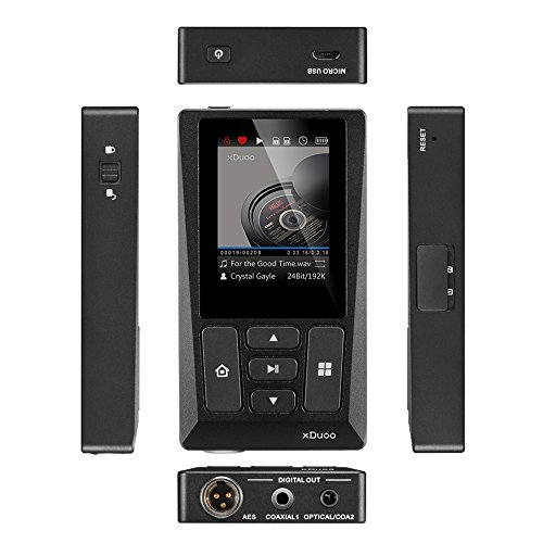 Docooler xDuoo X10T HiFi Music Player Digital Turntable Player High Resolution Lossless Audio Player WM8805 JZ4760B DSD APE FLAC w/ 2 inch Screen by Docooler (Image #3)
