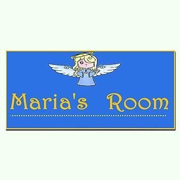 amazon com baby angel kids door sign personalised name plaque