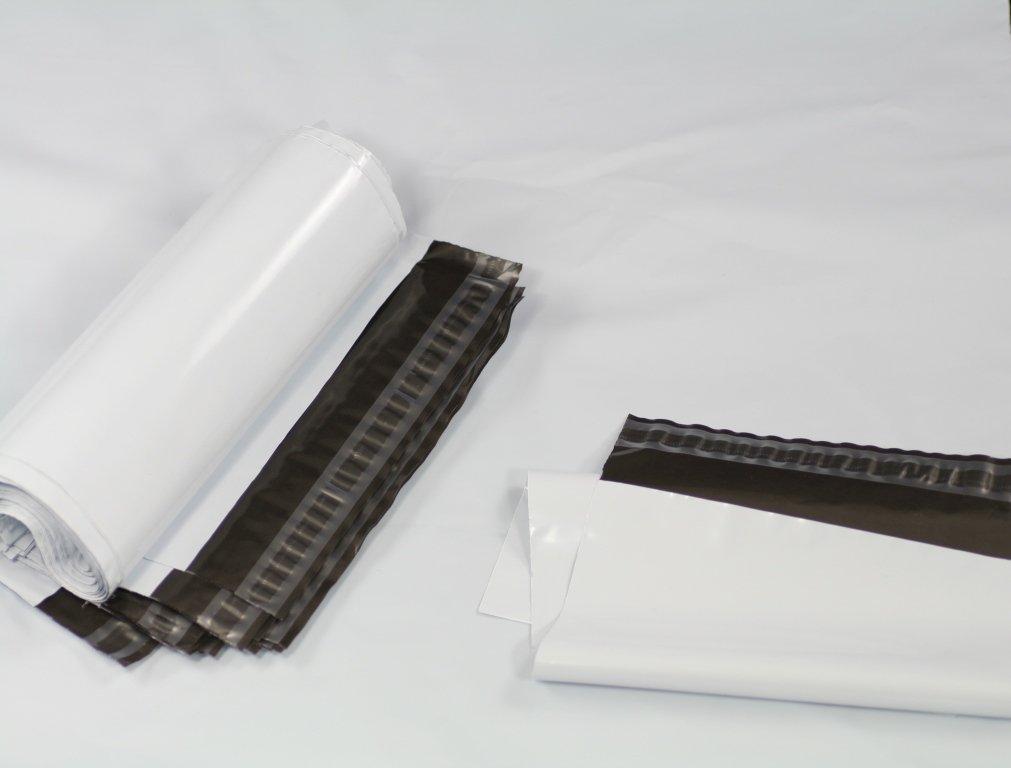 350/x 450/mm 35/x 45/cm postaux Poly postal Plastique enveloppes dexp/édition Sacs demballage Mail Package autocollante enveloppe Lot de 100 blanc