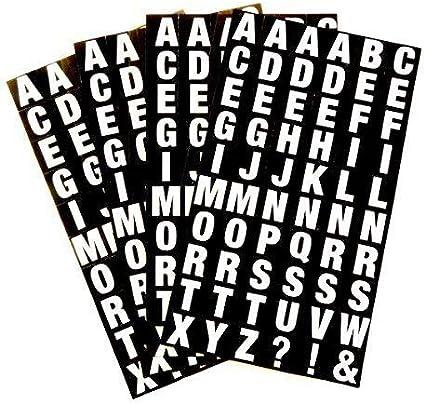Lettres Autocollantes Jeu Alphabet OU Chiffres   NOIR