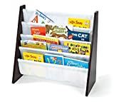 Tot Tutors Kids Book Rack Storage Bookshelf, Espresso/White (Espresso Collection)