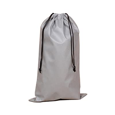 2 Piece Non-woven Boots Child Storage Pouch Dust Bag Collate Beam Port Drawstring Bags (Gray)