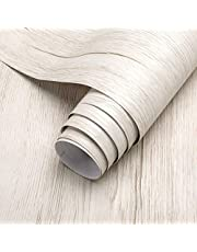 iKINLO houtlook zelfklevende folie 5 * 0,61 m PVC meubelfolie DIY vintage hout decorfolie keukenkast stickers voor meubels kast tafel muur behang